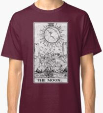The Moon Tarot Card - Major Arcana - fortune telling - occult Classic T-Shirt