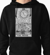 The Moon Tarot Card - Major Arcana - fortune telling - occult Pullover Hoodie