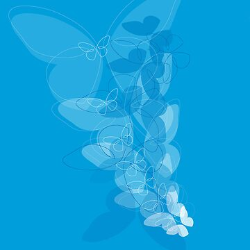 Blue Butterfly  by BlackCrow