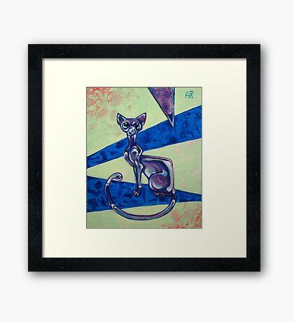 Glass Cat Framed Print