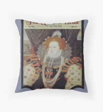 The Queen's Head Throw Pillow