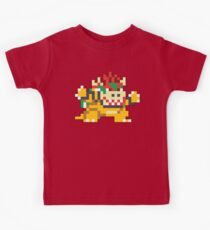 Super Mario Maker - Bowser Costume Sprite Kids Tee
