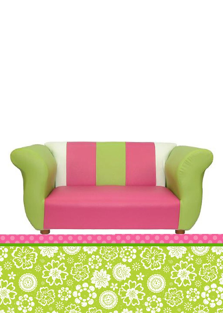 Funky Sofa By Papiergrace Redbubble
