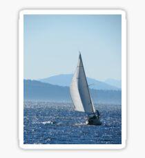 Sailboat on Puget Sound Sticker