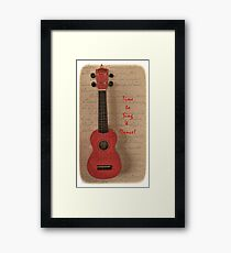 Time to Sing and Dance Framed Print