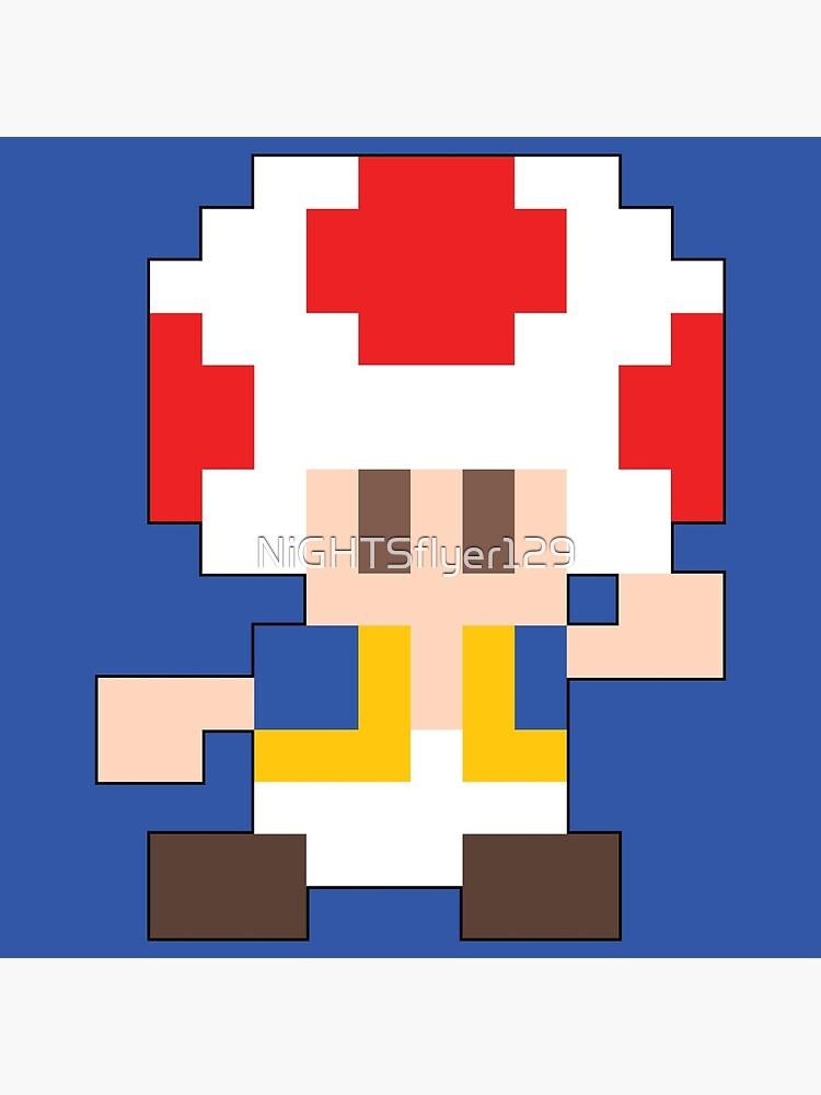 Super Mario Maker - Toad Costume Sprite | Poster