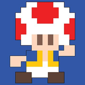Super Mario Maker - Toad Costume Sprite by NiGHTSflyer129