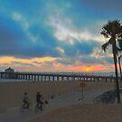 Biking Into The Sunset by Steve Belovarich