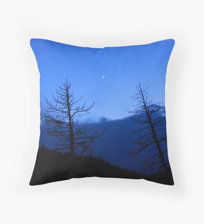 Rocky Mountain Crescant Throw Pillow