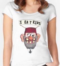 gravity falls i eat kids balloon  Women's Fitted Scoop T-Shirt