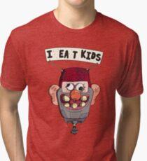 Camiseta de tejido mixto la gravedad cae, como el globo de los niños