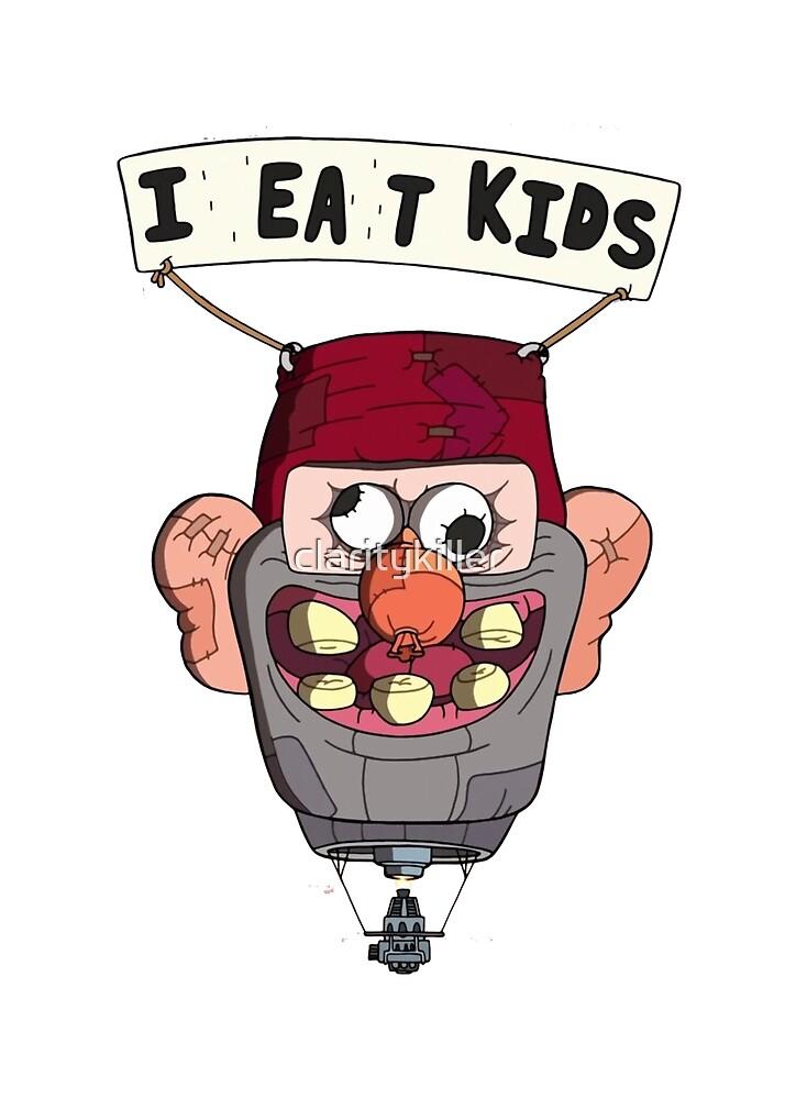 gravity falls i eat kids balloon  by claritykiller