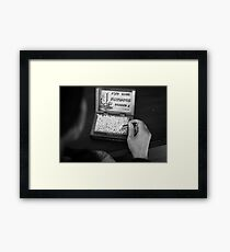 Scrolls Framed Print