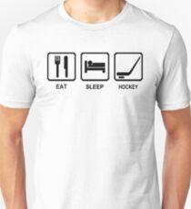 EAT SLEEP HOCKEY funny cool ice skate sport nhl canada T-Shirt