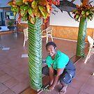 Jona, Hot Springs Hotel, Savusavu, fiji by F.  Kevin  Wynkoop