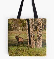 Bull Elk in Ponca Tote Bag