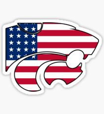 Kansas State University Logo America Sticker