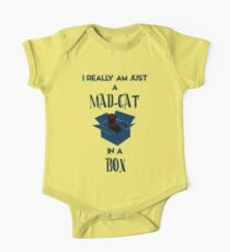 Just a mad cat in a box One Piece - Short Sleeve