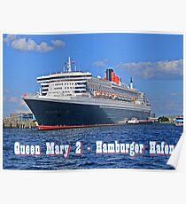 Queen Mary 2 Hamburger Hafen Poster