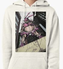 The Pink Bunny Saves Pullover Hoodie