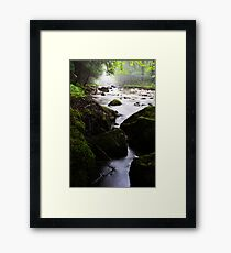 Looking North Up the River Framed Print