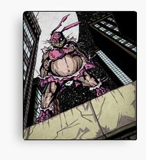 The Pink Bunny Saves Canvas Print