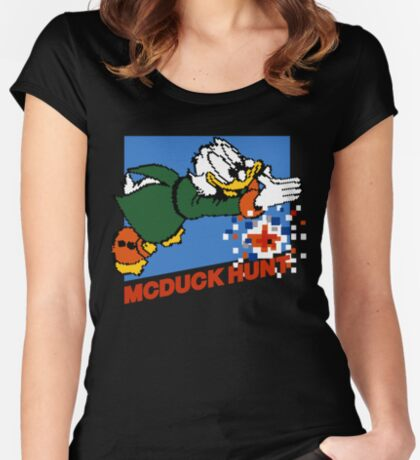 Scrooge McDuck Hunt Women's Fitted Scoop T-Shirt