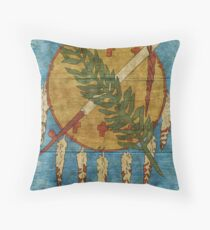 Vintage Oklahoma Throw Pillow