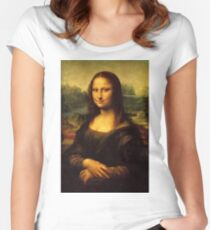 Mona Lisa HD Women's Fitted Scoop T-Shirt