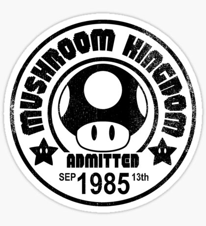 Mushroom Tourist Sticker