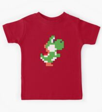 Super Mario Maker - Yoshi Costume Sprite Kids Tee