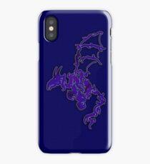 Tribal Dragon - Blue Grid iPhone Case/Skin