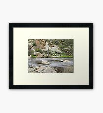 Swirling eddies in the Creek, Mannum Gorge. S.A. Framed Print