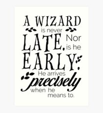 A Wizard is Never Late Art Print