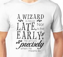 A Wizard is Never Late Unisex T-Shirt