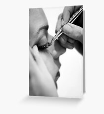 Lashes  Greeting Card