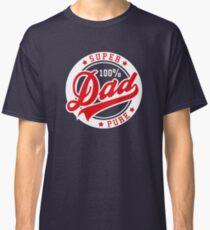 100 percent PURE SUPER DAD Red/White Classic T-Shirt