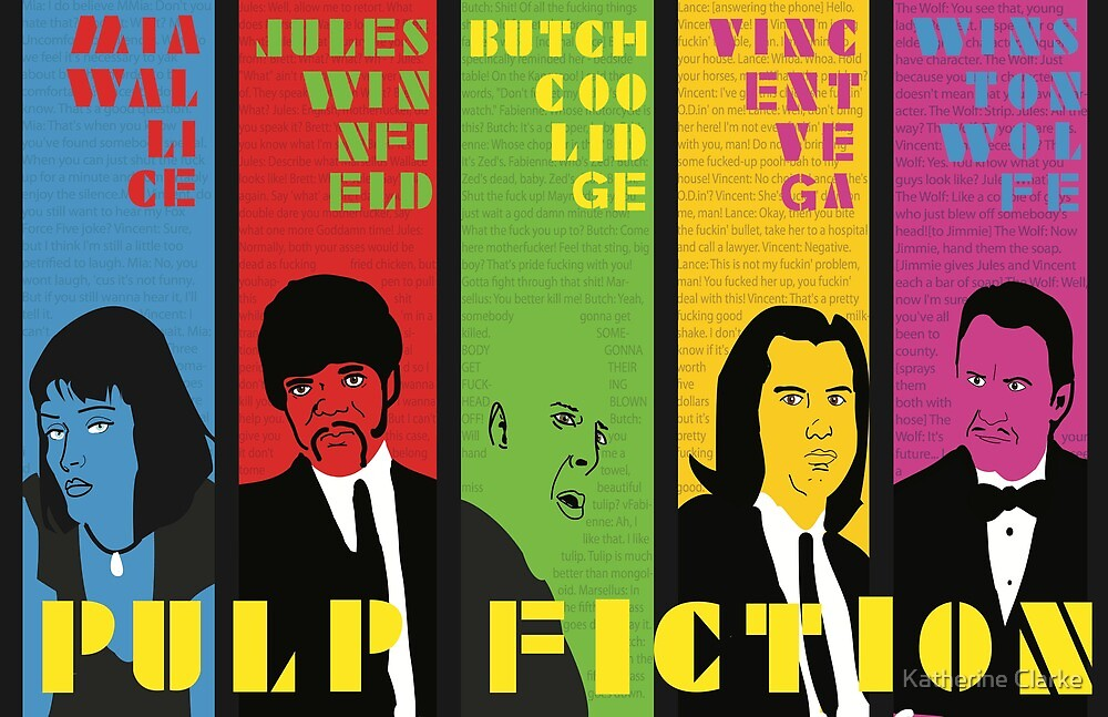 Pulp Fiction - Vibrating Colors by Katherine Clarke