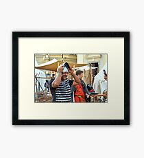 I'm Prettier With A Helmet, Am I? Framed Print