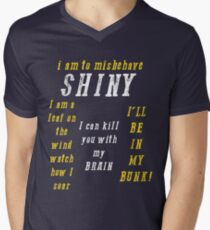 Quotes from Space Mens V-Neck T-Shirt