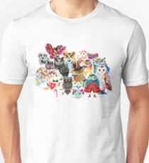 Owls collage Unisex T-Shirt