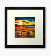 Swan Bay Sunset Framed Print