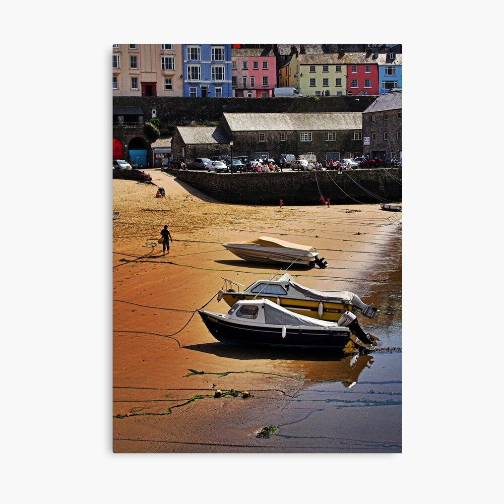 Painted Houses Canvas Print