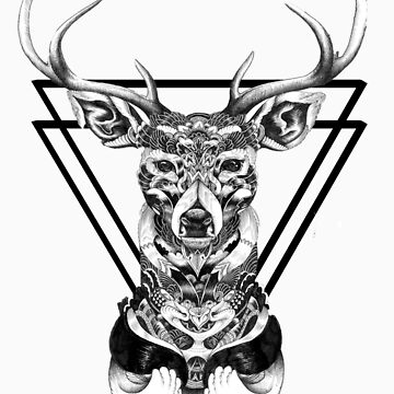 15th Lane Inspired Abstract Deer T-Shirt by DisneyLooney