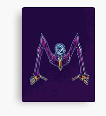 M is for Mummified Slender Man Canvas Print