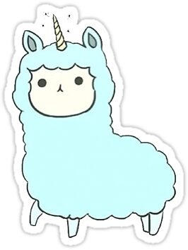 Llamacorn Stickers Redbubble
