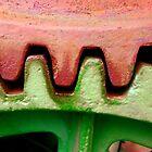 Gears On The Nichols & Shepard Steam Tractor by WildestArt