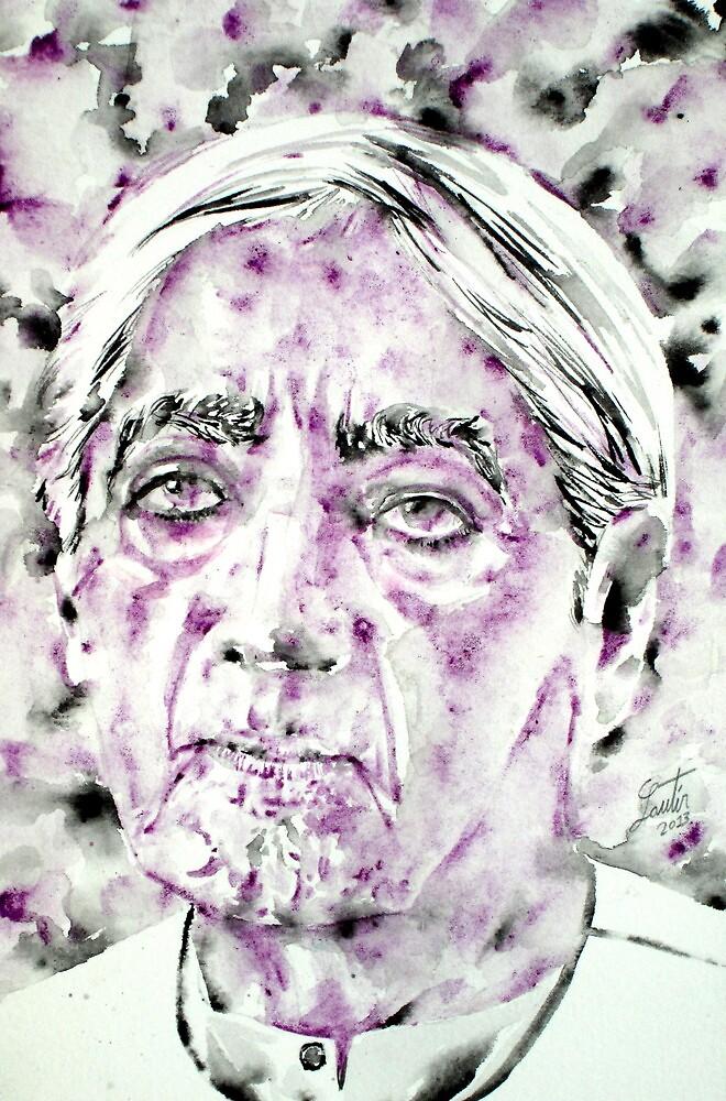 JIDDU KRISHNAMURTI watercolor portrait.4 by lautir