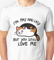 Lazy Cat, Calico T-Shirt