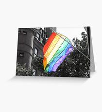 Rainbow Flag Greeting Card